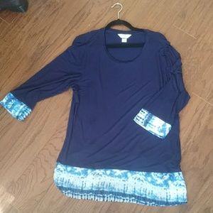 CJ Banks 3/4 sleeve shirt